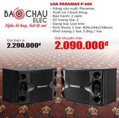 Loa karaoke paramax P-300 cho chất lượng âm thanh cực tốt, sử dụng phù hợp với dàn karaoke gia đình với không gian khoảng 20m2, giá tốt nhất tại Bảo Châu audio