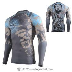 Fixgearmall - #FIXGEAR #Compression Base Layer Long Sleeve #Shirts, model no CFL-79, Skin Tights and Advanced Performance Fabric. ( #AeroFIX ) #Rashguard #Workout #Fitness #Crossfit #Training #MMA #Jujitsu #Yoga
