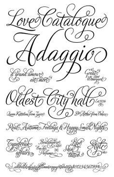 Adios Script Font For Tattoo