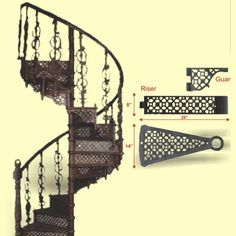 CAST IRON SPIRAL STAIRS AND CATWALKS | Cast Iron Accents