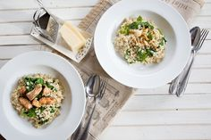 Kroupové rizoto Risotto, Yummy Food, Cooking, Ethnic Recipes, Food Ideas, Kitchen, Delicious Food, Good Food, Cuisine