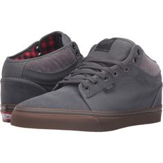 411f54778d Vans Chukka Mid Top ((Buffalo Plaid) Tornado Gum) Men s Skate Shoes