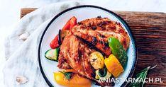 Kolorowa propozycja na grilla – soczysty kurczak w towarzystwie chrupiących warzyw. Grilling, Turkey, Meat, Ethnic Recipes, Food, Turkey Country, Crickets, Essen, Meals