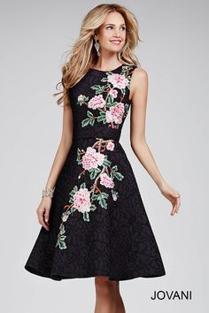 Bring out your inner flower child for this #jovani 28219 fit and flare dress.