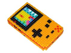 Gameboy Color 3D in Perler Beads. Also has images of 9 or so other geektastic pearler bead creations