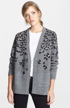 rag & bone 'Isadora' Leopard Intarsia Knit Cardigan (Nordstrom Exclusive) available at #Nordstrom