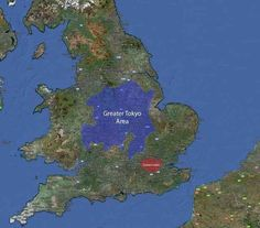 Here's Greater Tokyo overlaid on Great Britain.