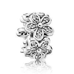 6d2bc8aed PANDORA Dazzling Daisies CZ Spacer | Light and delicate, this sweet  sterling silver spacer captures