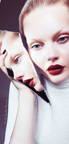 Beauty editorial Marlen Nohl by Christoph Klutsch | Harper's Bazaar Serbia Sept 2015 | cynthia reccord