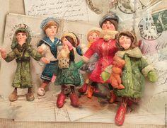 Купить Проданы. Ватные игрушки (винтажный стиль) - комбинированный, ватная елочная игрушка, подарок на новый год