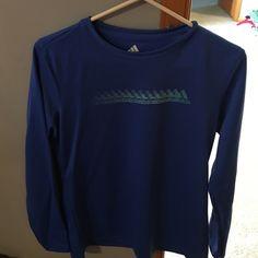 Adidas Athletic Tee Bright blue, size medium athletic shirt with Adidas logo. Adidas Tops Tees - Long Sleeve