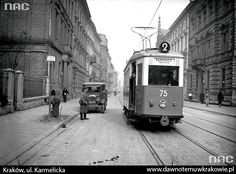 Compare old and new pictures of Kraków, beautiful city in Poland.