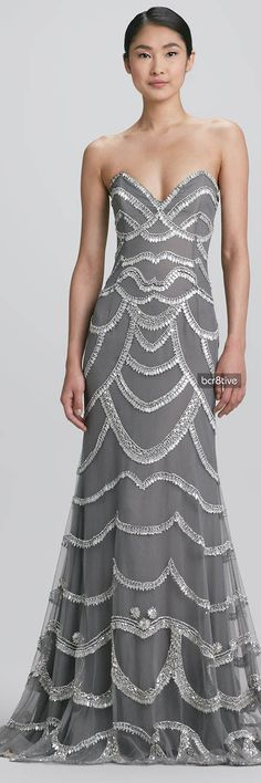 This grey gown with silver dangling embellishments patterned throughout is absolutely stunning. Another definite fav.