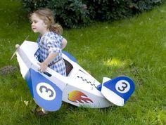 Plane toy recycled cardoard eco friendly toy blue par DecoNadette, £21.00