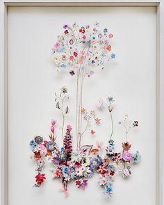 flowers construction by Anne Ten Donkelaar ♡