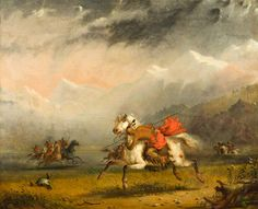 Alfred Jacob Miller Snake and Sioux Indians on Warpath oil on canvas, 1856 Thomas Gilcrease Museum ♥♥♥
