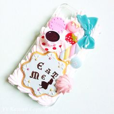 Alice in Wonderland inspired Kawaii Decoden Phone case for IPhone 4/4s 5 Samsung Galaxy S2 S3 S4 Mini Ace and other on Etsy, $15.00 loving it