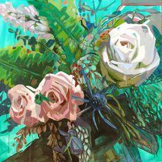 Flower Painting by Kate Mullin Art