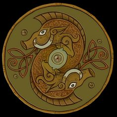 'Viking Boar Shield Design'. Boars were highly regarded by the norse, pagan people, for their strength, determination to defend their offsprings, and their sexual prowess. That's why the fertility gods Frey, and Freya, both have a boar associated with them.