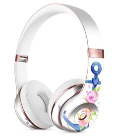 Watercolor Floral Anchor Full-Body Skin Kit for the Beats by Dre Solo 3 Wireless Headphones