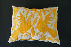 This otomi fabric pillow cover (also known as tenango) is hand-embroidered in Hidalgo, Mexico, but made into a pillow cover by me. Measurements: about