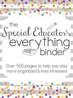 The Special Educator's Everything Binder (SPED Teacher Lesson Planner) Related Post Be brave and take risks. best 25 graduation cap ideas on Ideas montessori 35 Inspirational Quotes for Teachers Teacher Lesson Planner, Teacher Binder, Teacher Organization, Teacher Resources, Special Education Organization, Iep Binder, Paperwork Organization, Resource Teacher, Teachers Toolbox