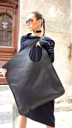 NEW Genuine Leather Black Bag / High Quality Tote by Aakasha
