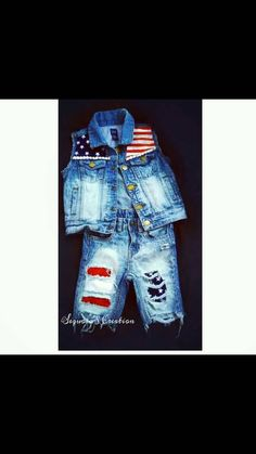 Check out this item in my Etsy shop https://www.etsy.com/listing/469371514/custom-flag-denim-vest-and-short-seta