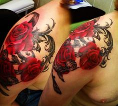 rose shoulder tattoo | Asgard Rose Shoulder Tattoo | Tattoo