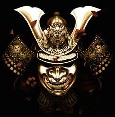 Hoate e kabuto - Máscara e capacete samurai.