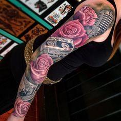 Awesome music themed sleeve tatuajes | Spanish tatuajes |tatuajes para mujeres | tatuajes para hombres | diseños de tatuajes http://amzn.to/28PQlav