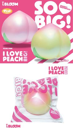 i_love_peach_big_squishy i-bloom squishy shop supplier cute kawaii ibloom squishy peach