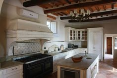 beautiful ceiling, stove and everything....