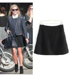 Reese Witherspoon Black A Line Skirt