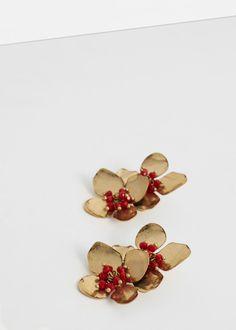 Floral earrings - Jewellery for Women | MANGO USA