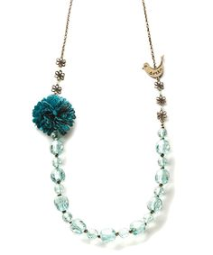 Love this Gold & Blue 'Dream' Beaded Necklace by Kelly Rae Roberts on #zulily! #zulilyfinds