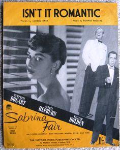 Sheet music for Sabrina with Audrey Hepburn and William Holden!