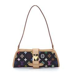 Louis Vuitton Black/Multicolore Monogram Shirley Handbag!