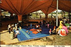 Children's Village postcard (I want to marry that Loblaws bag) Ontario Place, Toronto, Urban, Memories, History, Retro, City, Places, Classic