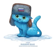Daily Paint Russian Blue by Cryptid-Creations Daily Paint Russisches Blau von Cryptid-Creations Cute Animal Drawings, Kawaii Drawings, Cute Drawings, Cute Fantasy Creatures, Magical Creatures, Animal Puns, Russian Blue, Blue Cats, Grey Cats