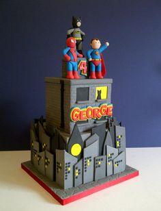 George's Superhero cake