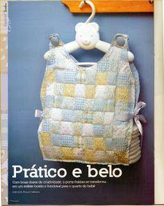 Porta Fraldas faça um lindo em tecido - FEITO POR MIM - ARTESANATO PASSO A PASSO