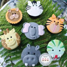 Jungle animals cupcakes