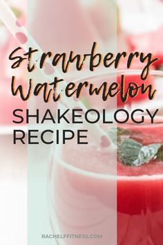 This smoothie is perfect for summer, but you can drink it year round! Blend fresh watermelon with Strawberry Shakeology and mint for a refreshing Strawberry Watermelon smoothie! Protein Shake Recipes, Smoothie Recipes, Protein Smoothies, Drink Recipes, Magic Bullet Recipes, Weight Watcher Smoothies, Watermelon Smoothies, Clean Eating Snacks, Eating Healthy