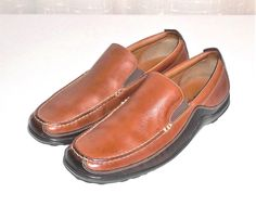 Cole Haan Brown Leather Loafer Slip On Driving Moc Men's Size 8.5 M #ColeHaan #LoaferDrivingMocSlipOnShoe
