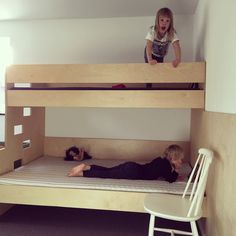Childrens bunk bed made of 24 mm plywood.