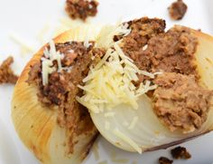 Soy Ground Baked Stuffed Onions. Easy to back and even easier to eat.