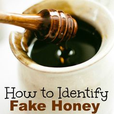 Have you heard about fake honey? Did you know that there was a scandal not too long ago about fake honey being sold in stores Do you think you can identify fake honey if you saw it?