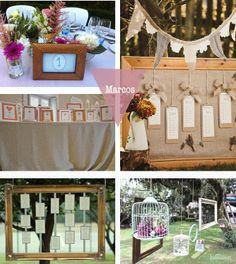 Los marcos dan un toque especial a la decoración de tus eventos.