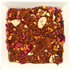 A lovely caffeine free blend that is surprising how you just can't get enough. Ingredients:Organic red rooibos, orange peel, apple, almonds, cinnamon, cloves, pepper, rose petals, natural flavour Orange Peel, Natural Flavors, Rose Petals, Almonds, Drinking Tea, Caffeine, Cinnamon, Organic, Stuffed Peppers